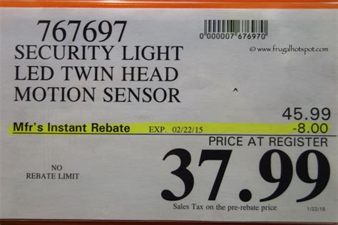 costco sale home zone security motion activated led light