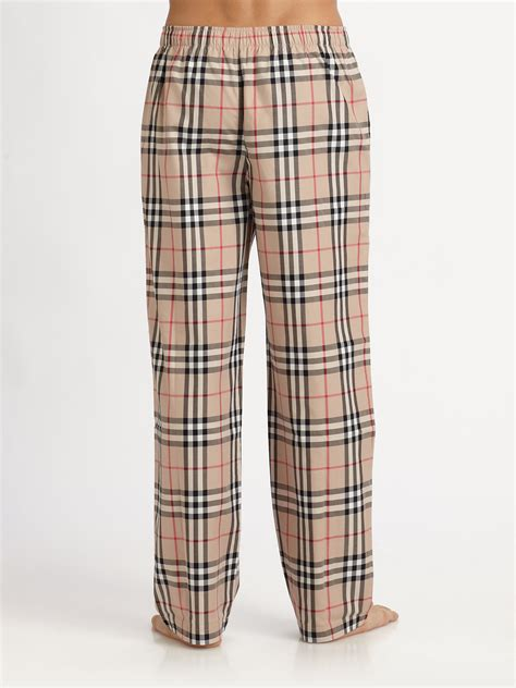 Burberry Pajamas 2 Set lyst burberry checkprint pajama in for