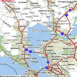 map of east bay california california map