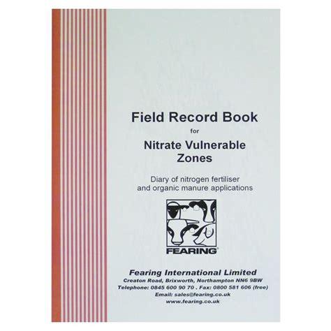 record book field record book nvz farm office books