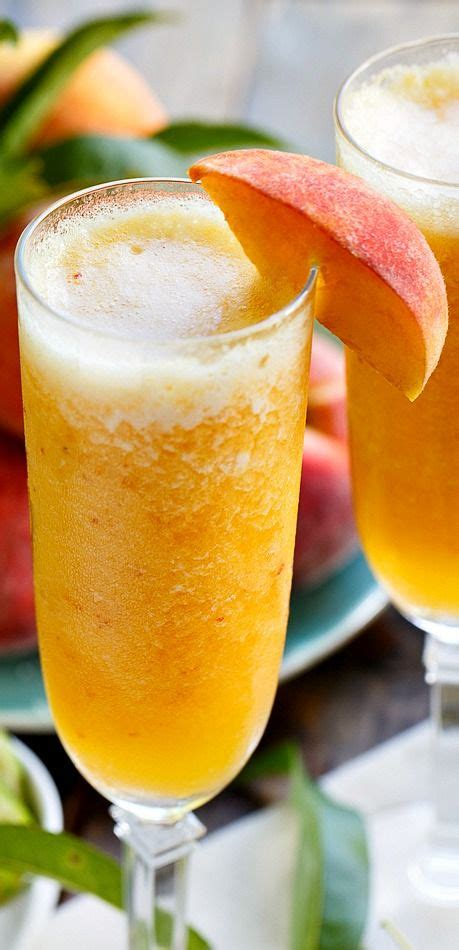 Frozen Peach Bellini Mocktail Recipe Favorite Blogger