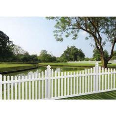freedom keswick scallop white vinyl fence panel common 8