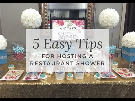 bridal shower ideas at a restaurant hosting a bridal or baby shower at a restaurant