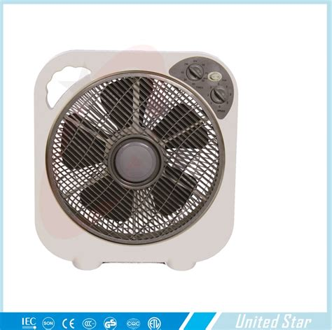 12 inch fan 14 inch square box fan with 5 blades electric motor 12