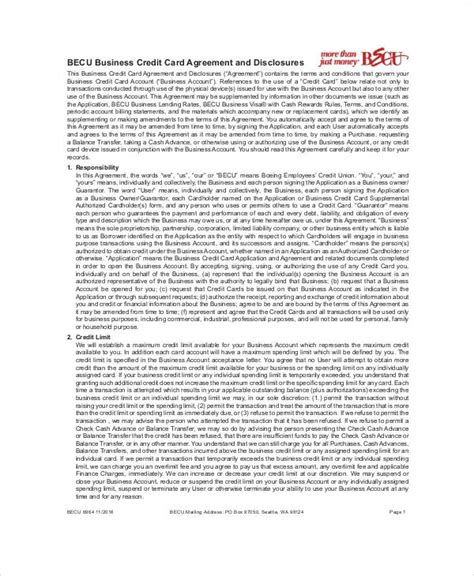 corporate credit card agreement template sle business credit card agreement 7 exles in