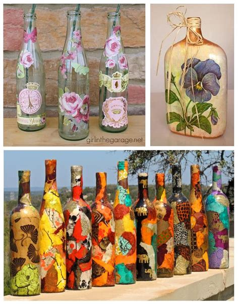 decoracion de botellas de vidrio con fotos c 243 mo decorar botellas de vidrio con servilletas 5 pasos