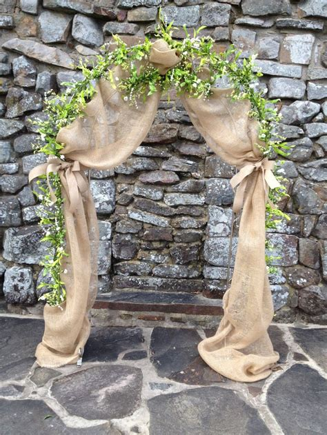 Wedding Arch Ideas With Burlap by Burlap And Garland Wedding Arch Wedding Arch Ideas