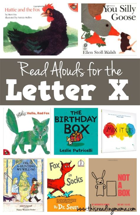 letters on books letter x books read alouds for the letter x