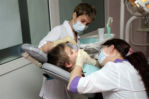 Young boy at the dentist's clinic   Stock Photo   Colourbox