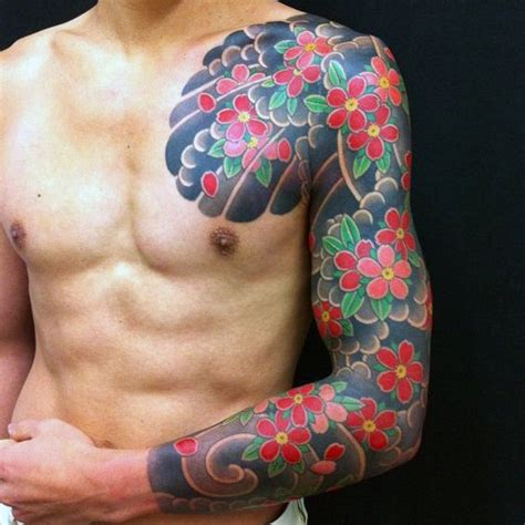 male flower tattoos 50 japanese flower designs for floral ink ideas
