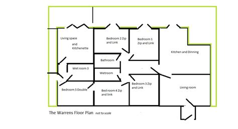 floor plan to scale the warrens floor plan not to scale camber accommodation