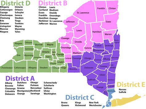 map of new york state judicial districts new york district map my