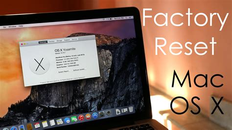 Format Mac Mini To Factory | how to factory reset hard reset your macbook os x