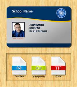 Id Cards Templates Free Downloads Student Id Templates Free Download
