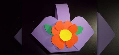 How To Make Paper Flower Basket - how to make a flower or basket out of construction