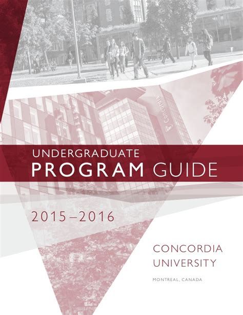 Concordia Mba Admission Deadline by Concordia Undergraduate Program Guide 2015 2016