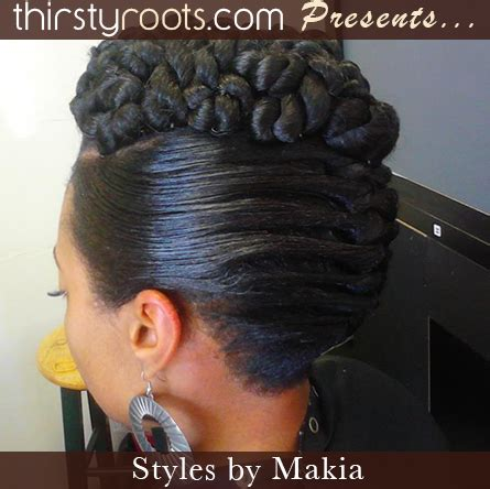 french roll hairstyle african american twisted updo hairstyle thirstyroots com black hairstyles