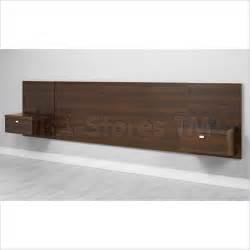 Prepac espresso series 9 wall mounted headboard system with 2