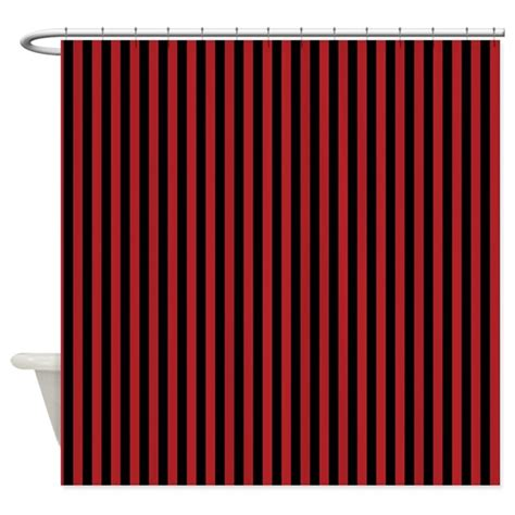 black white and red shower curtain red and black pirate stripes shower curtain by be inspired