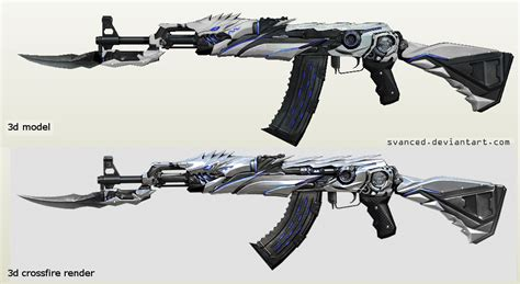 Papercraft Ak 47 - next project ak47 iron beast papercraft by svanced on