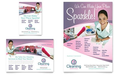 house cleaning maid services flyer ad template word