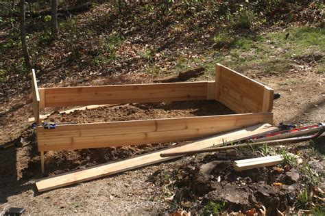 backyard raised garden how to build a raised garden bed on a slope home outdoor