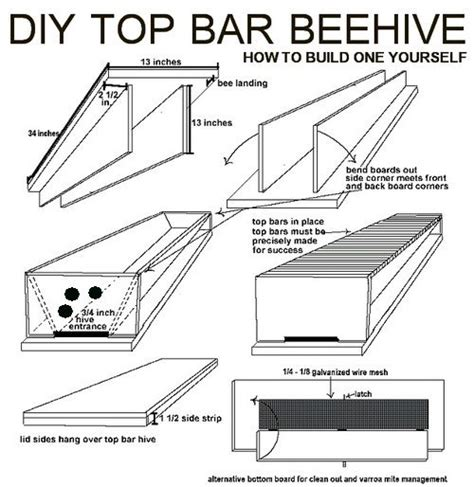 top bar hive design wood working