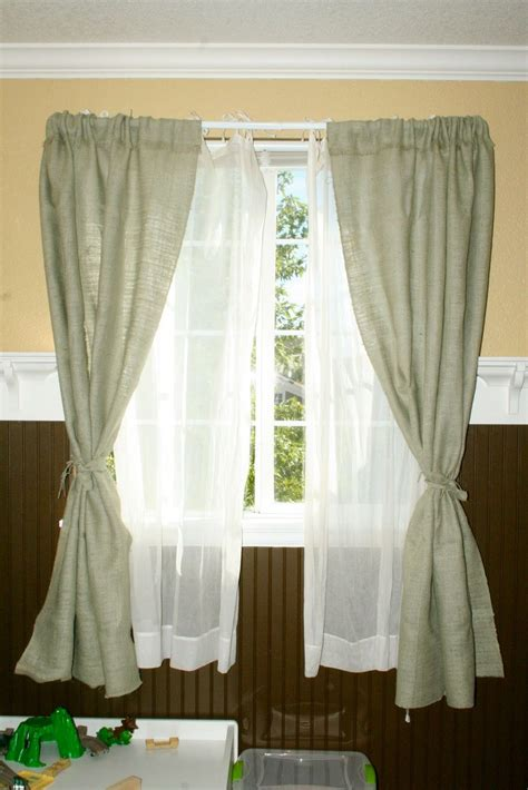 Burlap Drapes And Curtains Flibbertigibberish Burlap Curtains