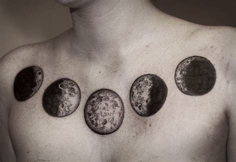 moon cycle tattoo 35 moon phases designs amazing ideas