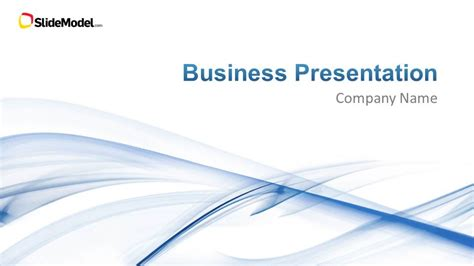 Light Business Powerpoint Template Slidemodel Company Presentation Template Free