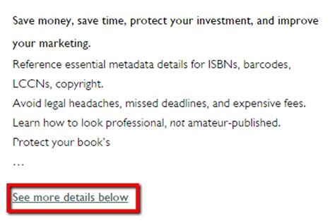 book description generator html for self publishing