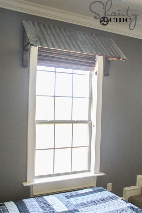 indoor window awnings diy corrugated metal awning shanty 2 chic