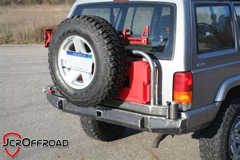 Jeep Xj Rear Tire Carrier Jcr Xj Rear Deluxe Tire Carrier Bumper Pics