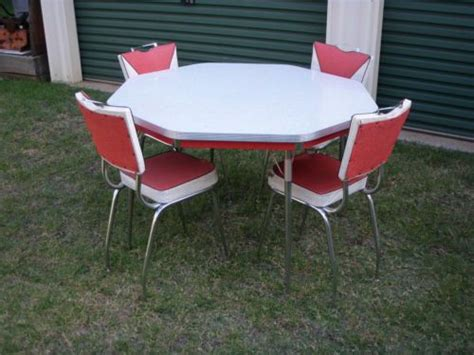 white kitchen table and chairs ebay 1950s laminate dining table 4 chairs retro vintage white kitchen chrome ebay home sweet