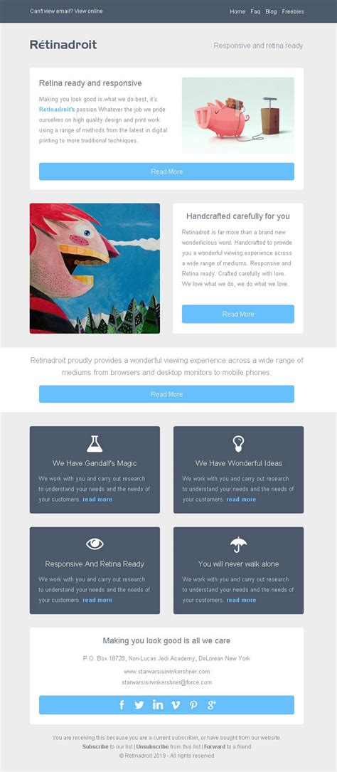 html email template mailchimp responsive email template invoice template mailchimp