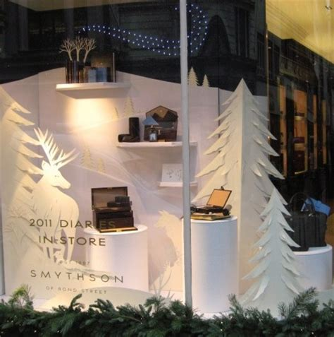 retail display white christmas jp window displays