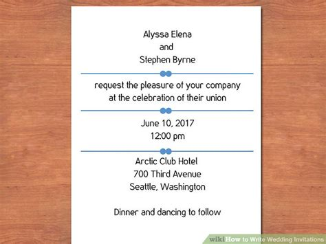 whose name is written on wedding invitations 3 easy ways to write wedding invitations with pictures