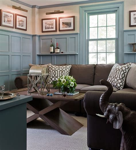 desigrans interior style magnificent american living room brown and blue gray color for the