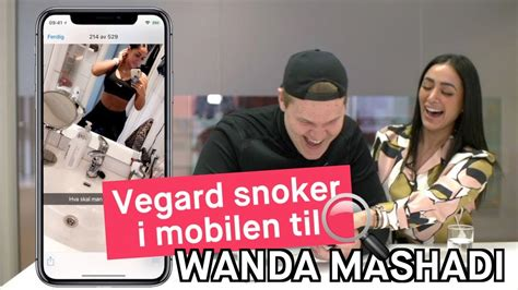 Vegard Harm Vegard Harm Snoker I Mobilen Til Wanda Mashadi