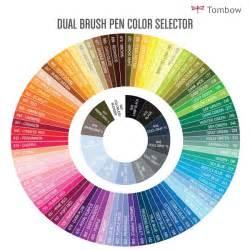 tombow color chart dual brush pen set 96 colors