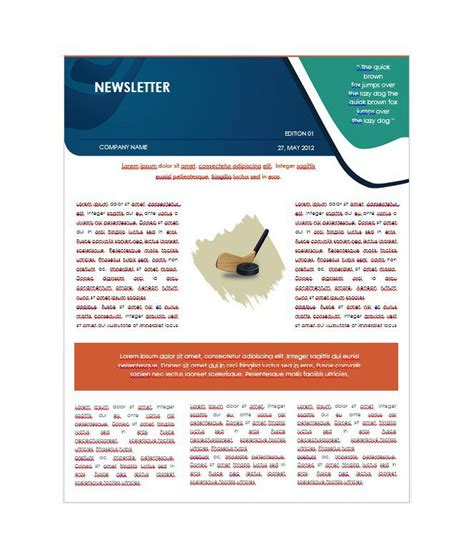 free newletter templates 50 free newsletter templates for work school and