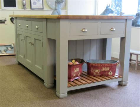 freestanding kitchen island unit ex display murdoch troon freestanding painted pine kitchen