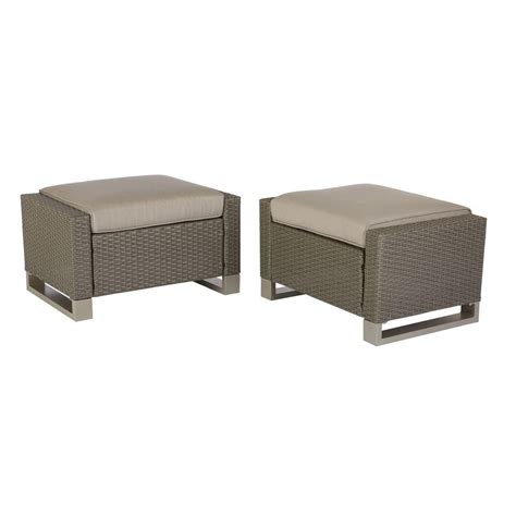 hton bay broadview patio ottomans in sunbrella spectrum