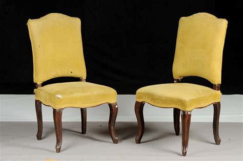 sedie luigi xiv coppia di sedie imbottite luigi xiv xviii secolo