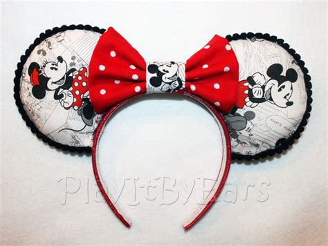 Handmade Minnie Mouse Ears - handmade disney ears mickey n minnie vintage comic