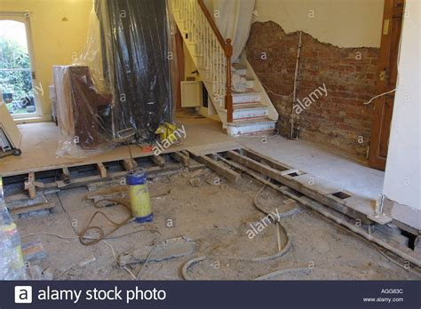 buying a house with dry rot house repairs after finding d and dry rot infected joists and stock photo