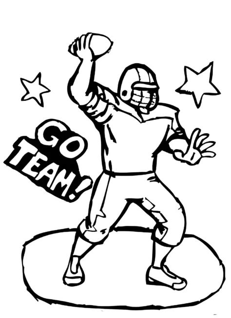 coloring page of a football player football jersey coloring pages bestofcoloring com