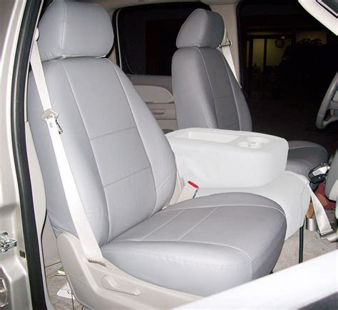 2013 chevy seat covers chevy silverado 2007 2013 grey iggee s leather custom