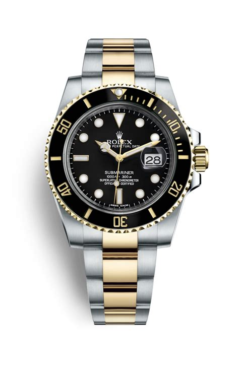 Rolex Classical Combi Black Gold rolex submariner date yellow rolesor combination of oystersteel and 18 ct yellow gold
