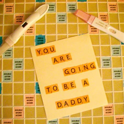 scrabble baby announcement creative and pregnancy announcement ideas